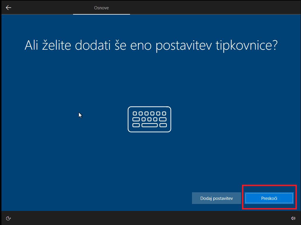 Dodajanje novih postavitev tipkovnice za windows 10