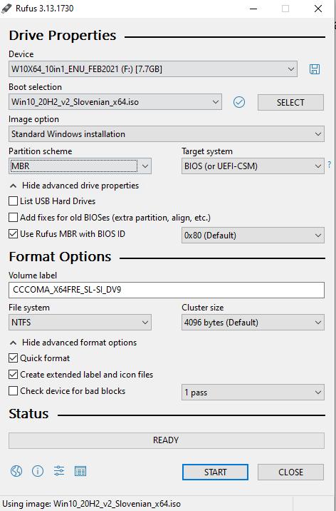 MBR particija za starejše računalnike