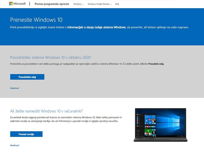 Pridobitev Windows 10 ISO Datoteke Step 1