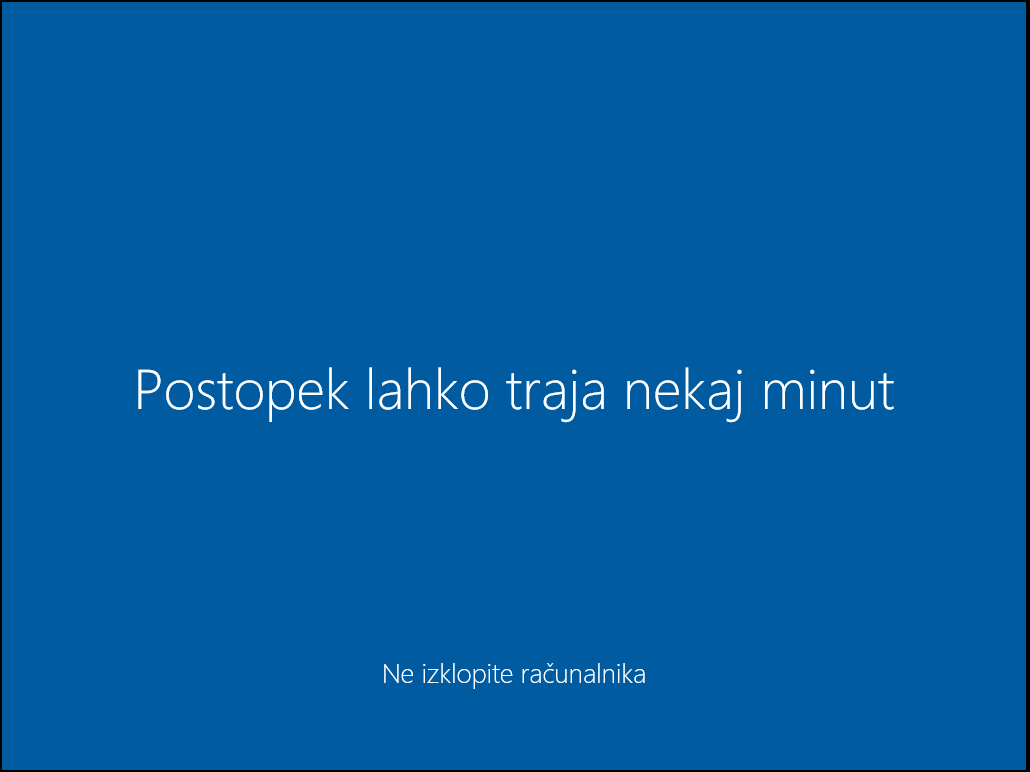 The famous just wait a moment windows 10 screen