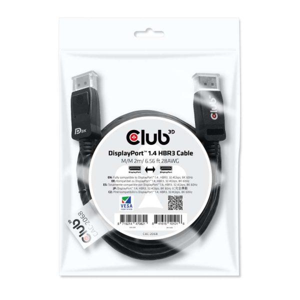 Display Port Kabel HBR3 1.4 2m